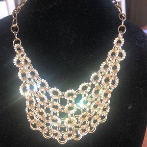 Cara Couture  Rhinestone Gold Tone Necklace